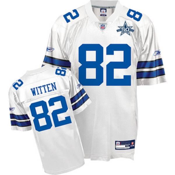 Cowboys #82 Jason Witten White Team 50TH Anniversary Patch ...